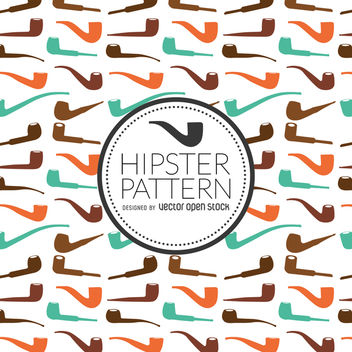 Hipster pipe pattern - Free vector #367355