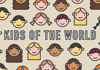 Kids of the World Vector Pattern - бесплатный vector #367375