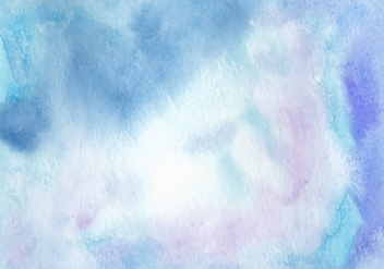 Blue Watercolor Free Vector Background - Kostenloses vector #367425