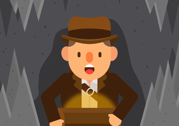 Vector Indiana Jones - vector gratuit #367445