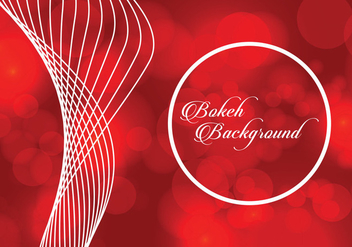 Red Bokeh Background - Kostenloses vector #367505