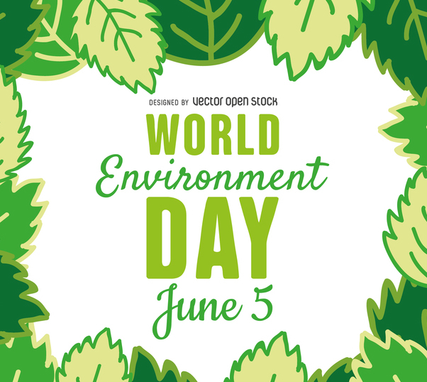 World environment day leaves frame - Kostenloses vector #367575