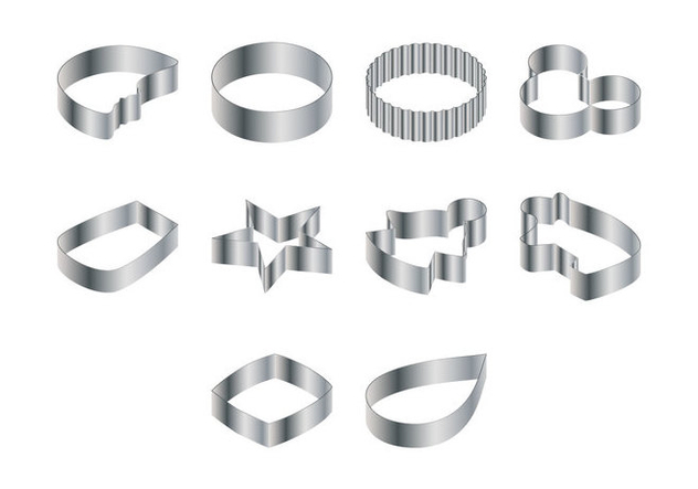 Steel Cookie Cutter Vector - Free vector #367635