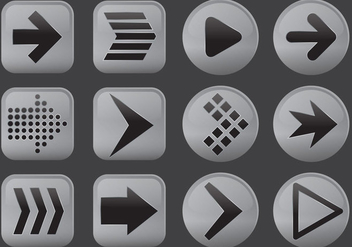 Arrows Buttons - vector #367655 gratis