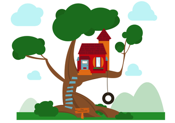 Free Treehouse Vector - бесплатный vector #367705