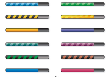 Preloading Bars Icon Set - Free vector #367755