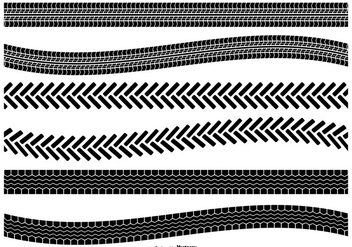 Tire Track Vector Shape Set - Kostenloses vector #367765