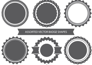 Vector Badge Shape Set - vector gratuit #367795