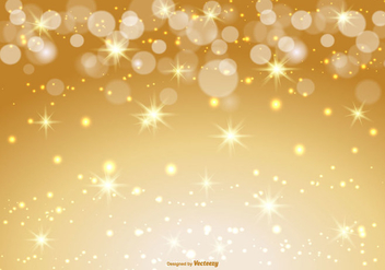 Beautiful Gold Bokeh and Sparkle Background - vector gratuit #367805