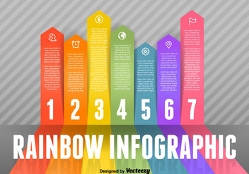 Rainbow Infographic Vector Elements - vector gratuit #367825