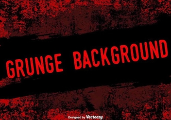 Red Grunge Vector Background - Kostenloses vector #367835