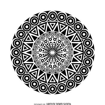 Tribal mandala design - Free vector #367905