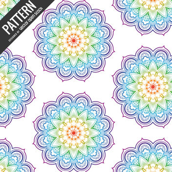 Rainbow pattern backdrop - Free vector #368035