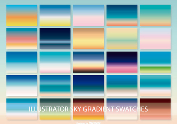 Beautiful Illustrator Sky Gradient Swatches - Free vector #368095