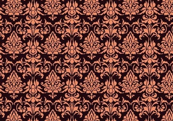 Floral Damask Pattern - Free vector #368105