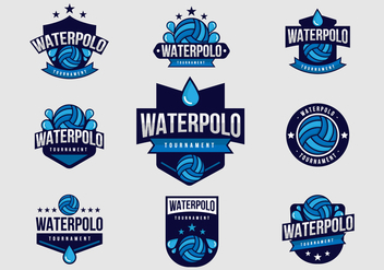 Free Water Polo Badges Vector - бесплатный vector #368115