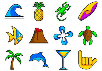 Hawaii Icon Vector - Free vector #368145