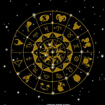 Zodiac signs drawing - vector gratuit #368175