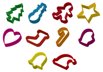 Set Of Cookie Cutter Vector - vector #368205 gratis
