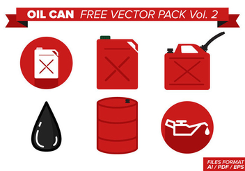 Oil Can Free Vector Pack Vol. 2 - Kostenloses vector #368335