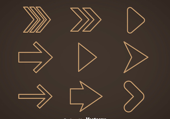 Outline Arrow Vector - Free vector #368405