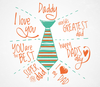 Father's Day greeting card - vector gratuit #368505