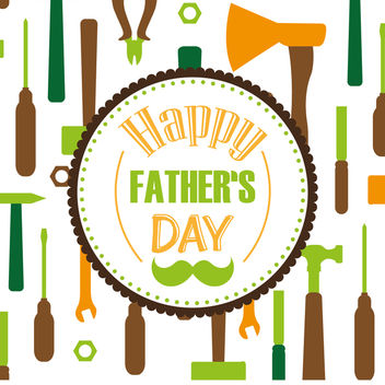 Tools pattern Father's Day - vector gratuit #368515