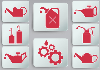 Oil Can Icon set - vector #368595 gratis