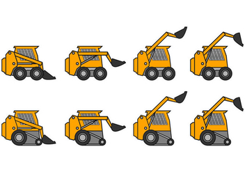 Skid Steer Icon Vector - Free vector #368615
