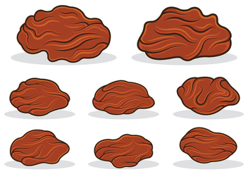 Raisins Icon Vector - бесплатный vector #368625