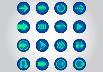 Free Arrow Vector Icons - vector gratuit #368805