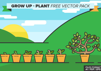 Grow Up Plant Free Vector Pack - vector gratuit #368875
