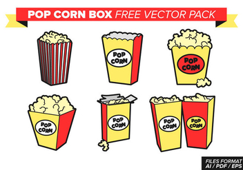 Pop Corn Box Free Vector Pack - Kostenloses vector #368915