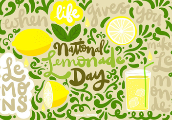 NATIONAL LEMONADE DAY Vector - vector gratuit #368935