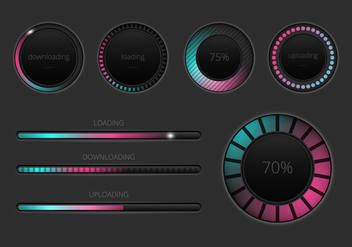 Free Preloader and Progress Bars Vector - vector #368965 gratis