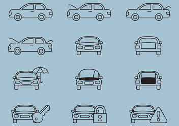 Car Service Line Icons - vector gratuit #368985