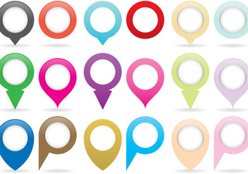 Map Pins And Pointers - Free vector #369035