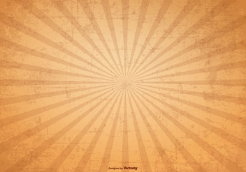 Sunburst Vector Grunge Background - Free vector #369055
