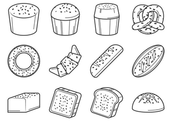 Raisins Bread Vector - Free vector #369065