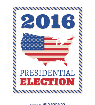 2016 US Presidential Election frame - vector gratuit #369135