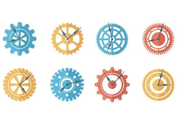 Free Clock Parts Vector - vector gratuit #369265