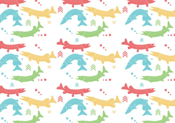 Pike Pattern Vector - бесплатный vector #369385
