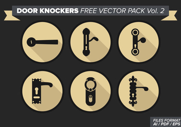 Door Knockers Free Vector Pack Vol. 2 - vector #369425 gratis
