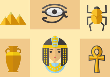 Ancient Egyptian Icons Vector - Free vector #369435