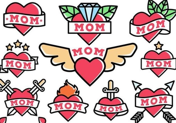 Free Mom Tattoo Vector - Kostenloses vector #369515