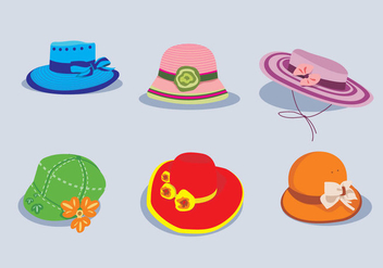 Cute Hat Vector - vector gratuit #369525
