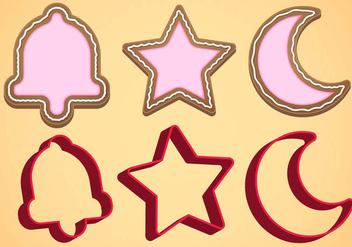 Cookie Cutter Vector Set B - Kostenloses vector #369615