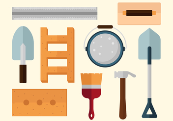 Free Bricklayer Vector Icons - Free vector #369635