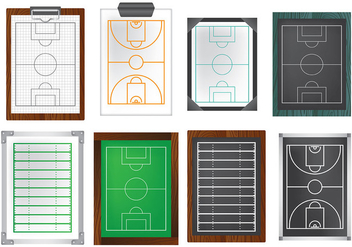 Free Playbook Icons Vector - Kostenloses vector #369675
