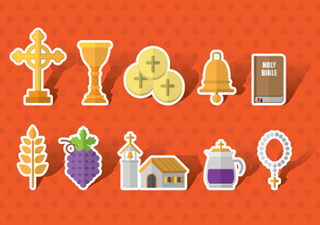 Eucharist Vector Icons - бесплатный vector #369685